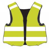 Yellow safety vest vector isolated protective workwear worker