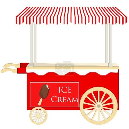 Ice cream red cart
