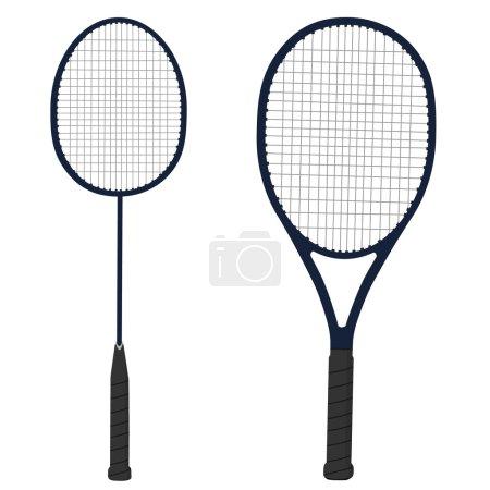 Tennis and badminton racket