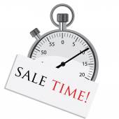 Stopwatch with text sale time