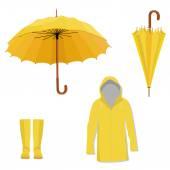 Raincoat boots umbrella