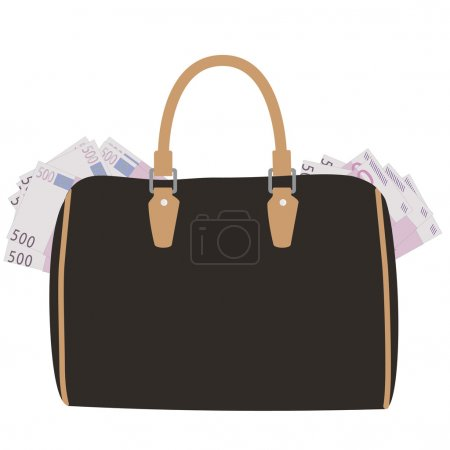 Handbag with money