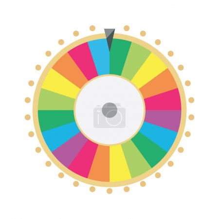 Illustration for Vector illustration wheel of fortune. Lucky spin icon in flat style. - Royalty Free Image