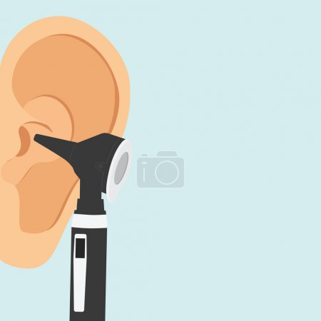 Otoscope and ear