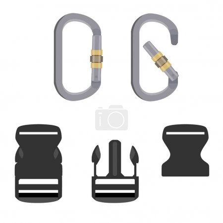 Hiking equipment vector