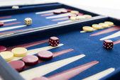 Board games - backgammon in play