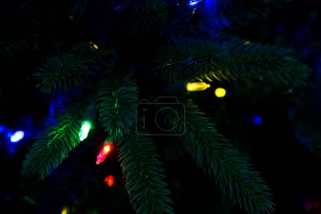Artificial Christmas treess with lights...