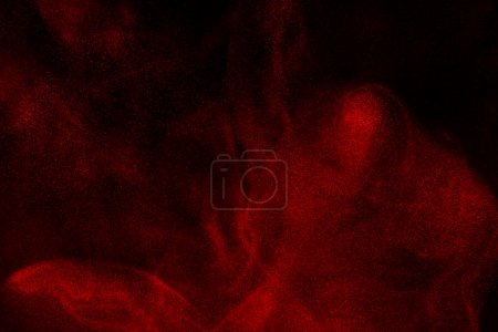 Photo for Abstract design of powder cloud against dark background - Royalty Free Image