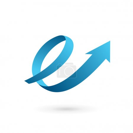 Letter E arrow loop logo icon design template elements