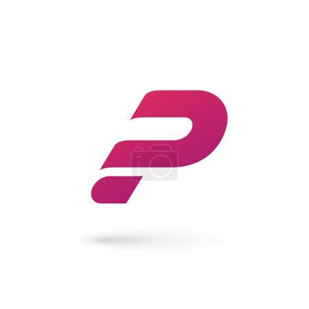 Letter P question mark logo icon design template elements