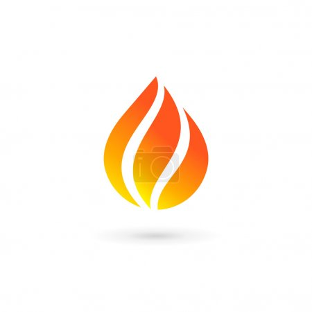 Water drop fire logo design template icon. May be used in ecolog