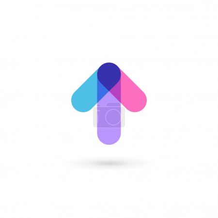 Abstract business logo icon design template with arrow