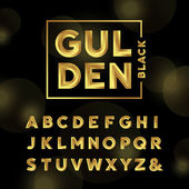 Golden font Vector alphabet with gold effect letters