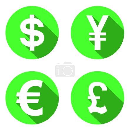 Satz von Geld-Symbolen