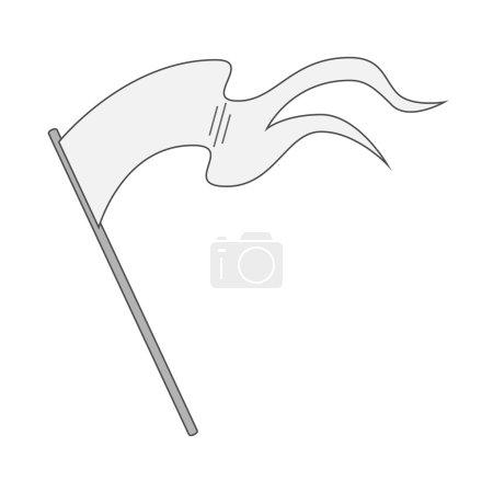 White blank Flag on Stick