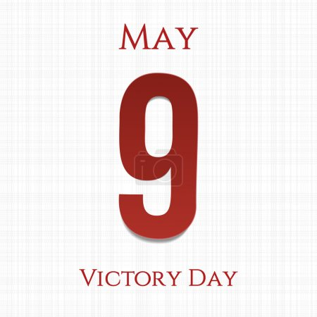 Victory Day big paper Number 9. Ninth May