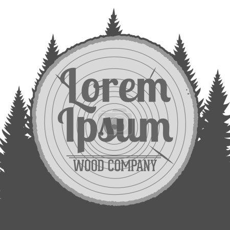 Vector wood Service Emblem