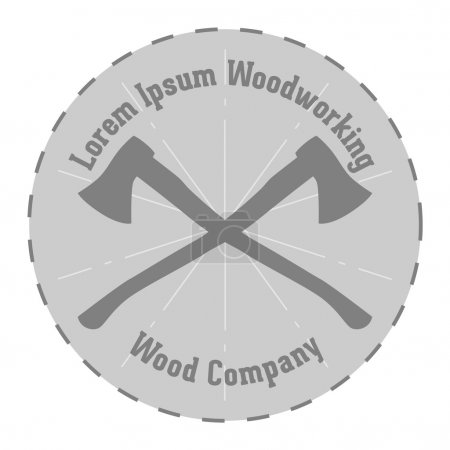 Illustration for Simple vector Design of woodworking Company Label - Royalty Free Image