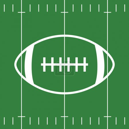 Flat Design of Football Field and Ball