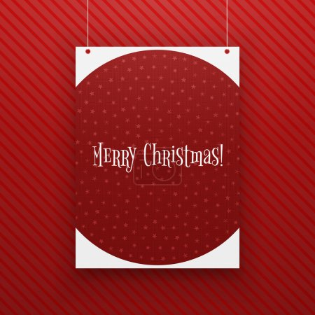 Chistmas paper Page hanging against red Background