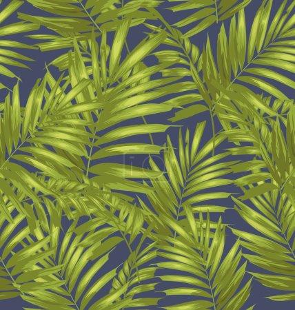 Illustration for Seamless palm leaf pattern. Vector illustration - Royalty Free Image