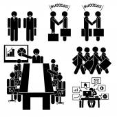 Business Icon Human on isolated background jobs icons over white background vector illustration Business man Officer