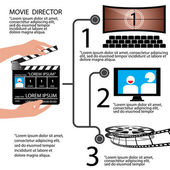 Movie Direction concept Infographic vector Illustration