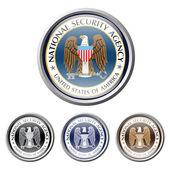 Emblem of us american secret service national security agency