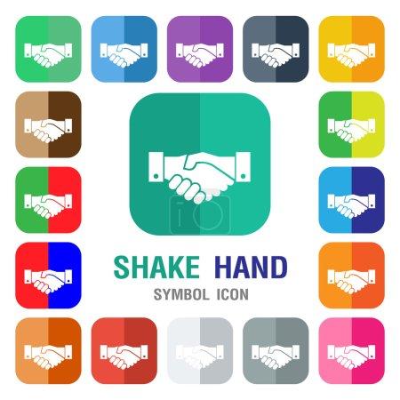 Handshake icon. shake hand icon