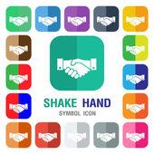 Handshake icon shake hand icon