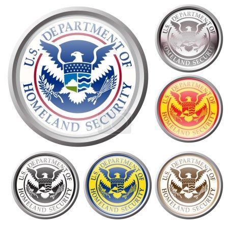 Emblem of united state department of homeland secu...