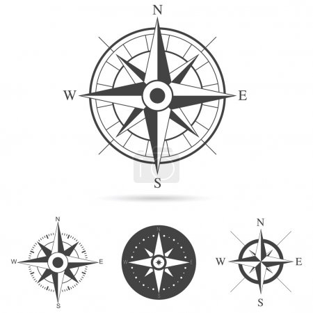 Illustration for Collection of compass rose design - Vector illustration - Royalty Free Image