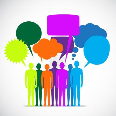 People Colorful Speech Bubbles
