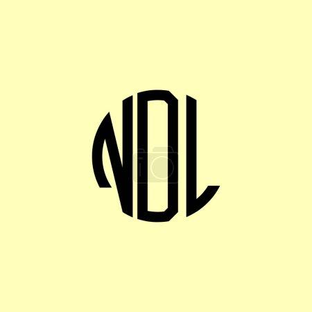 Illustration pour Lettres initiales arrondies créatives NOL Logo. Il conviendra pour quelle entreprise ou marque commencer ces initiales. - image libre de droit