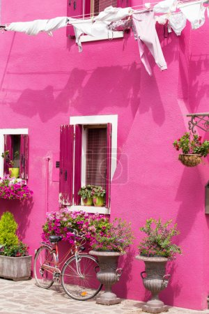 Colorful house in Italy