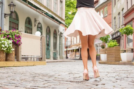 Photo for Elegant lady with beautiful legs in high heel shoes - Royalty Free Image