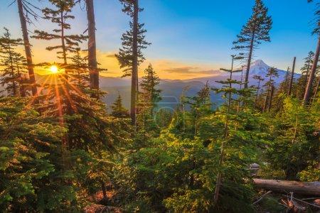 Photo pour Vue majestueuse sur le Mt. Capuche par une journée ensoleillée et lumineuse pendant les mois d'été . - image libre de droit