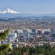 View of Portland, Oregon from Pittock Mansion....