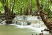Jed Sao Noi waterfall in rain jungle. (Saraburi,Thailand)
