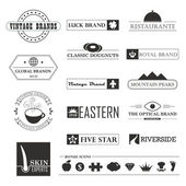 Vintage brands and logo elements