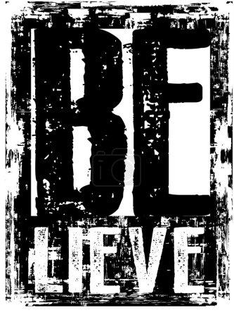 Illustration pour Design vectoriel typographie abstrait CROIRE couleur noir - image libre de droit