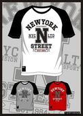 T SHIRT raglan new york