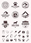 Set of vector pet logo icons and design elements