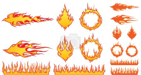 Illustration for Lots of great vector fire elements for your work. - Royalty Free Image