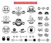 Sport and Fitness Logo Templates Gym Logotypes and Design Elements