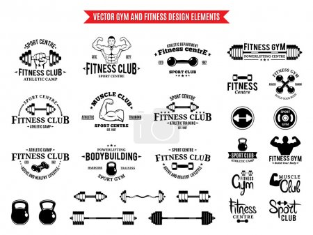 Sport and Fitness Logo Templates, Gym Logotypes and Design Elements