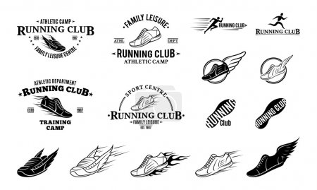 Running Club Logo, Labels Templates and Badges