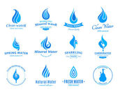 Water Logos Label Icons and Design Elements