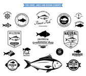 Fish Logos Labels and Design Elements