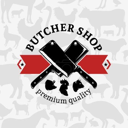 Butcher Shop Label Template